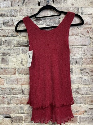 Lost River - Sleeveless Short Knit Tunic - ONE SIZE