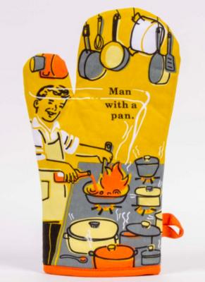 Blue Q Oven Mitt -Man With a Pan