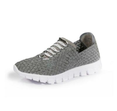 Zee Alexis - DANIELLE - Pewter Woven Sneakers
