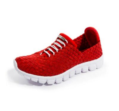 Zee Alexis - DANIELLE - Red Woven Sneakers