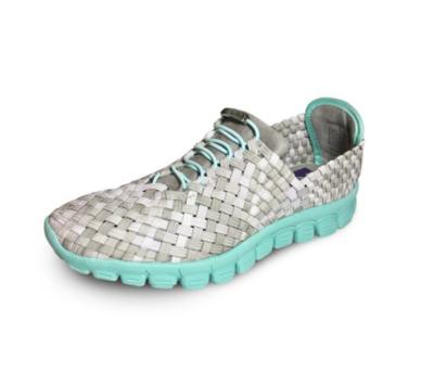 Zee Alexis - DANIELLE - Stone Multi/Turquoise Bottom Woven Sneakers