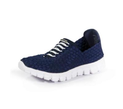 Zee Alexis - DANIELLE - Navy Woven Sneakers