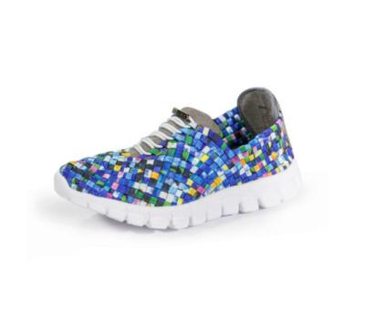 Zee Alexis - DANIELLE - Turquoise Multi Woven Sneakers