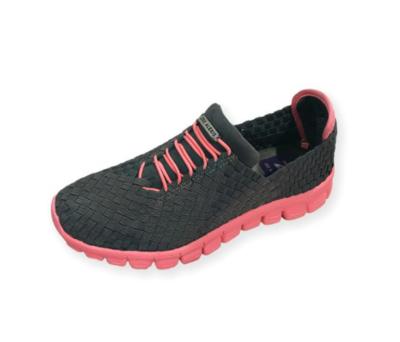 Zee Alexis - DANIELLE - Charcoal/Melon Bottom Woven Sneakers