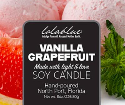 Lolablue Candle - Vanilla Grapefruit