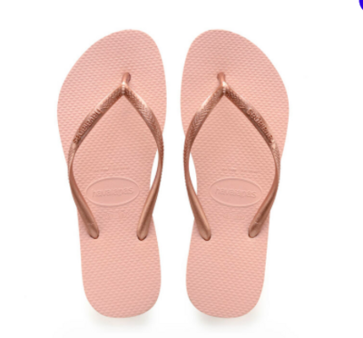 Havaianas - Rose Gold Slim Flip Flops