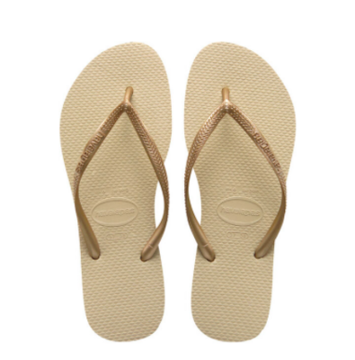 Havaianas - Gold Slim Flip Flops