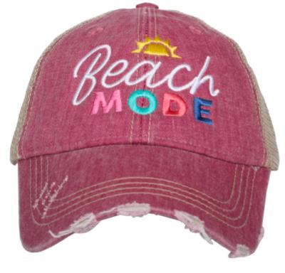 Katydid Trucker Hat- Mauve Beach Mode