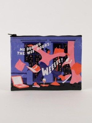 Blue Q Zipper Pouch- Me during the wee hours