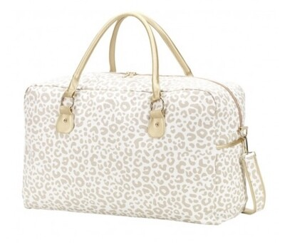Viv & Lou- Travel Bag Natural Leopard