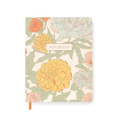 70s Floral Paperback Journal