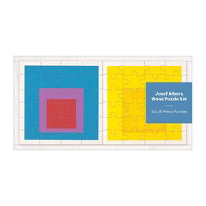 Joseph Albers Wood Puzzle Set - Six 25 piece Puzzles