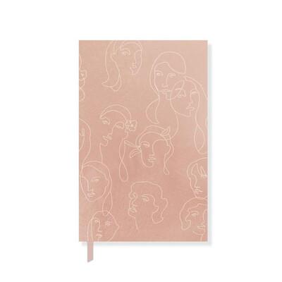 Canvas Faces Paperback Journal