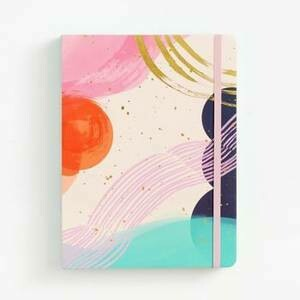Abstract Watercolor Coptic Bound Journal