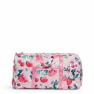 Packable XL Duffel Bag Rosy Garden Picnic