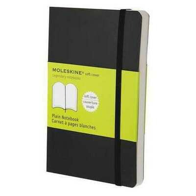 Moleskine Plain Notebook Pocket Black Soft Cover