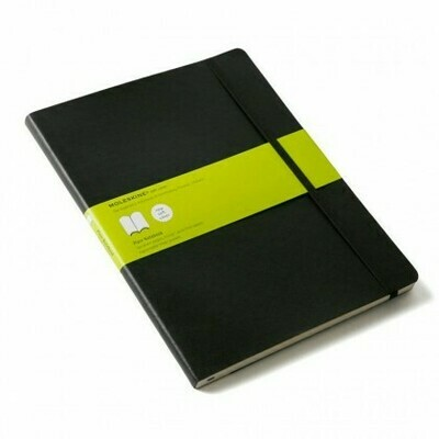 Large Black Plain Moleskine Notebook