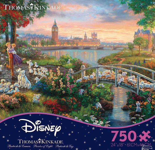 Disney Thomas Kinkade 101 Dalmations 750 Piece Puzzle