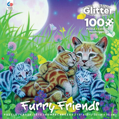 Furry Friends 100 Piece Puzzle Cat Family