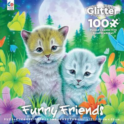 Furry Friends 100 Piece Puzzle Best Friends