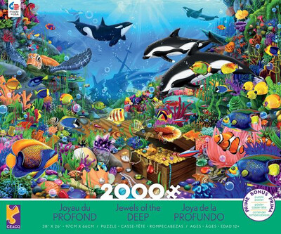 Jewels Of The Deep 2000 Piece Puzzle