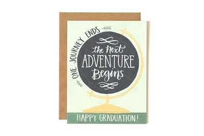 The Next Adventure Begins Graduation Card