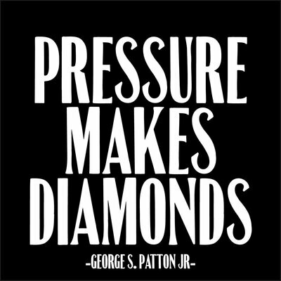 Pressure Makes Diamonds Square Card