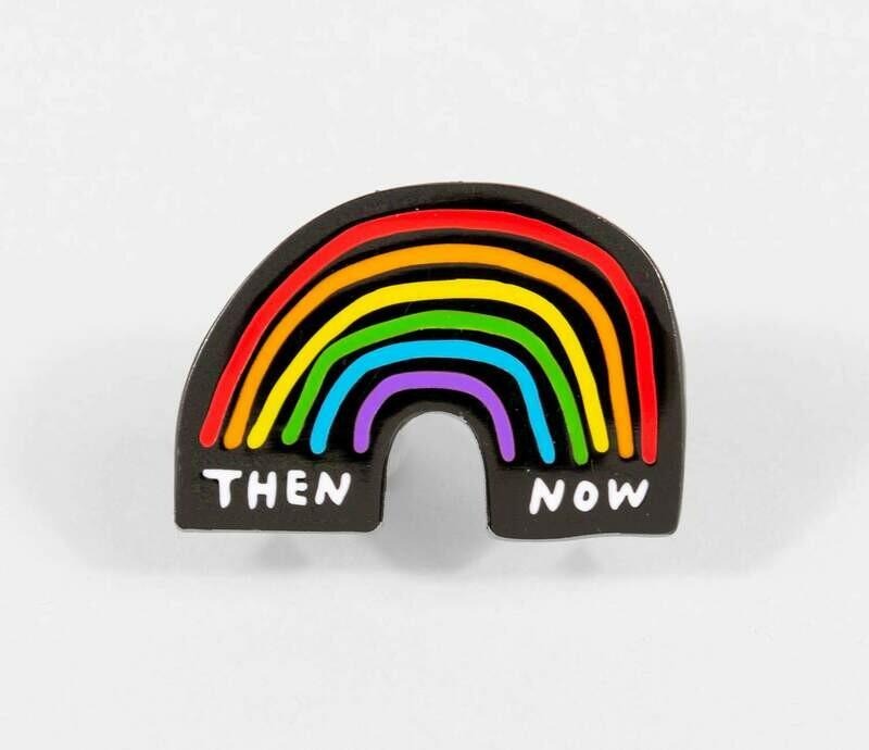 Then & Now Enamel Pin