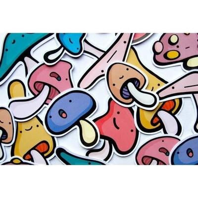 Mushrooms Sticker Pack