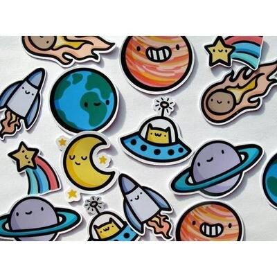 Space Dudes Sticker Pack