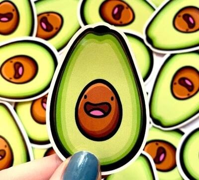 Mini Avocado Vinyl Sticker