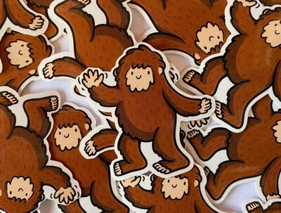 Mini Bigfoot Vinyl Sticker