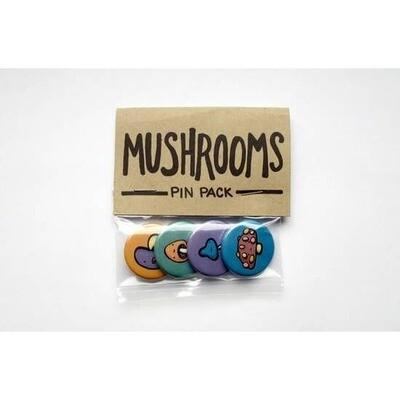 Mushrooms Pin Pack