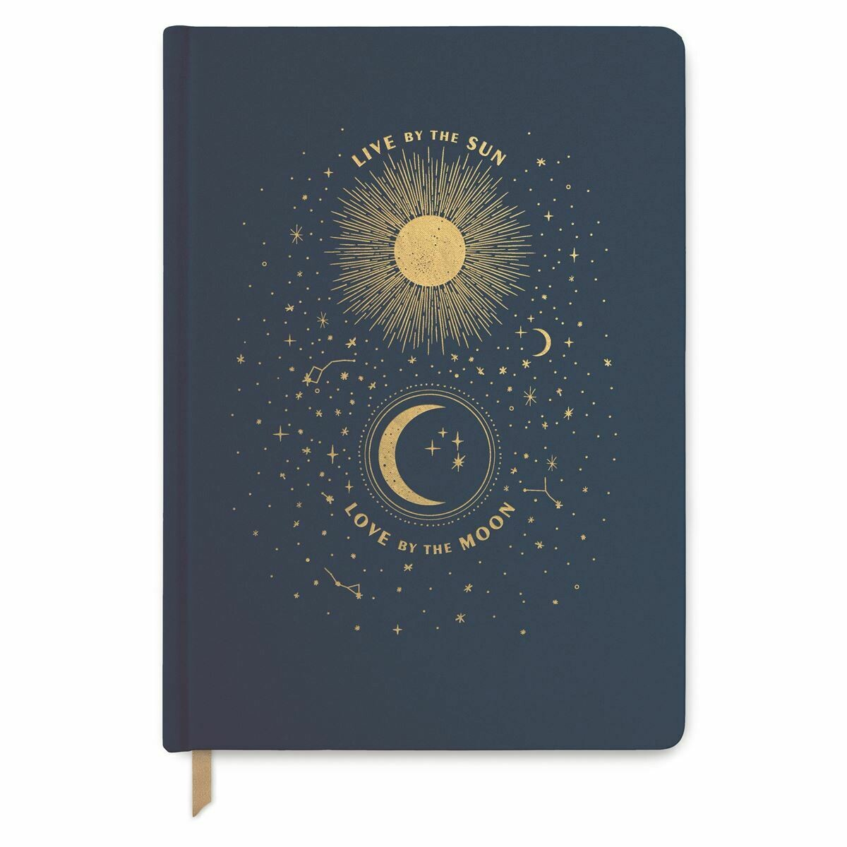 """""""Live by the Sun, Love by the Moon"""" Large Bookcloth Journal"""
