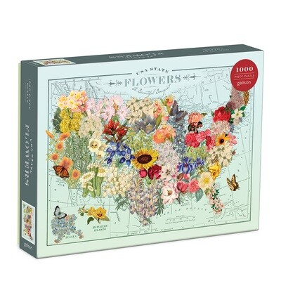 USA State Flowers 1000 pc Puzzle