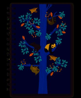 Sleeping Tree Spiral Notebook