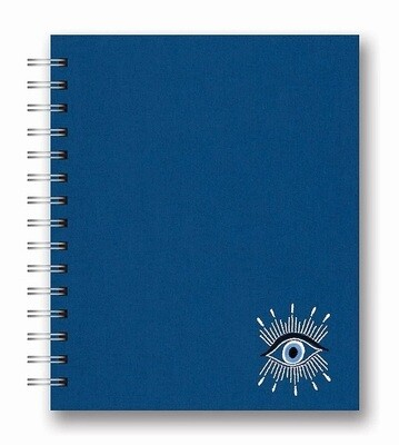 Evil Eye Embroidered Tabbed Notebook