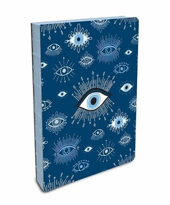 Evil Eye Coptic Bound Compact Journal