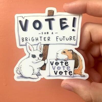 Vote for Brighter Future Sticker