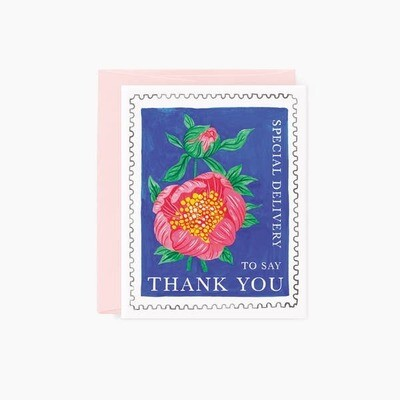 Floral Stamp Thank You