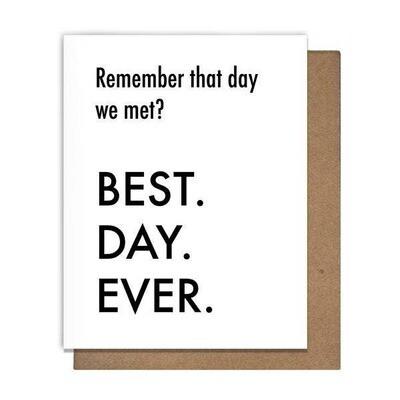 BDE Day We Met Card