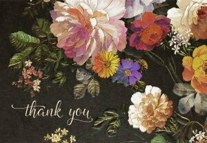 Midnight Floral Boxed Thank You Cards (14)