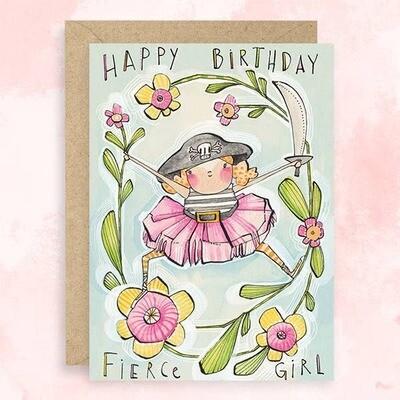 Fierce Girl Birthday Card