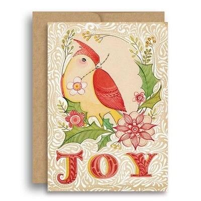 Joyful Cardinal Christmas Card
