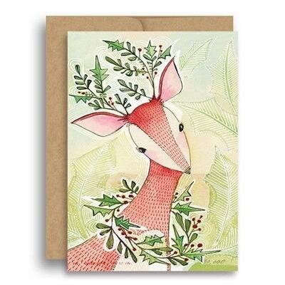 Sweet Christmas Deer Card