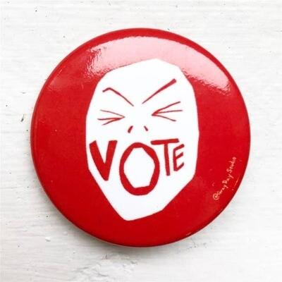 Vote Scream Pin
