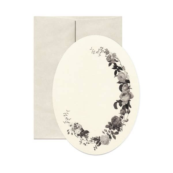 Dark Florals Card