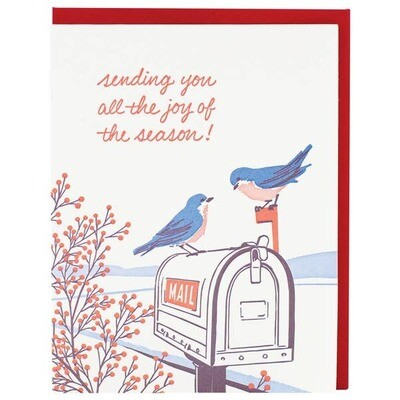 Bluebirds Holiday Greeting Boxed