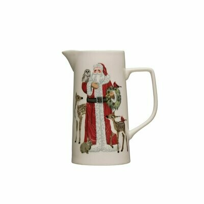 Pitcher w/ Santa & Animals