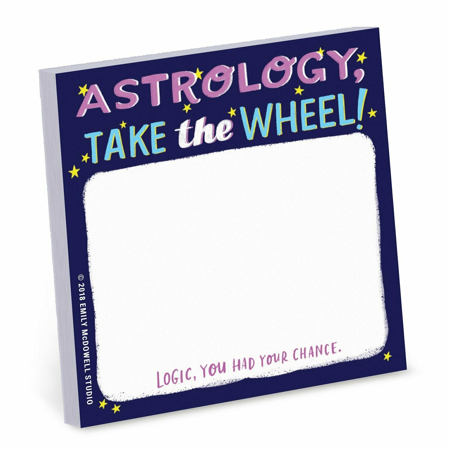 Astrology Take the Wheel! Sticky Notes
